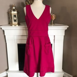 DVF Raspberry Sleeveless Dress w/Front Pockets
